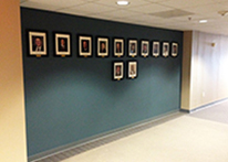 Pictures of the board of directors on the 7th floor of the 1430 building at Atlanta's John Marshall Law School