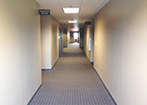 Hallway image of the 7th floor of the 1430 building at Atlanta's John Marshall Law School