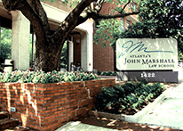 Front sign of Atlanta's John Marshall Law School