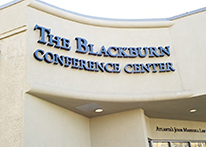 Front building sign of Blackburn Conference Center at Atlanta's John Marshall Law School