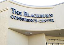 Front building sign of Blackburn Conference Center at Atlanta's John Marshall Law School