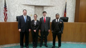 Finalists for the G. Alan Blackburn Intra-school Moot Court Competition.